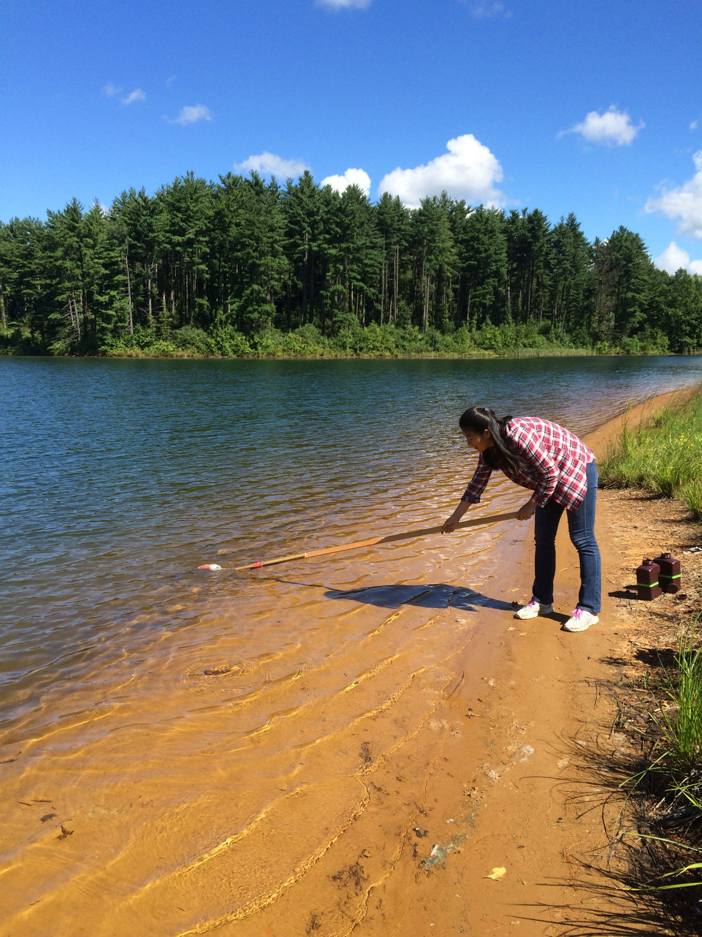 ESGP student takes water quality samples